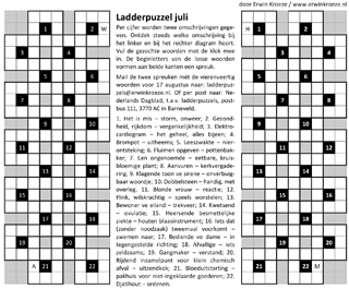 Ladder juli puzzel