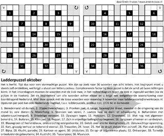Ladder oktober puzzel