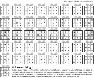 Sinterklaas paardensprong puzzel
