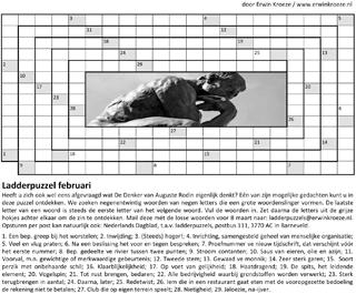 Ladder februari Rodin puzzel