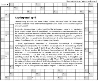 Ladder april puzzel