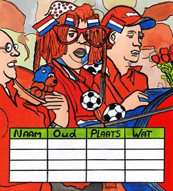 Oranjefans voetbal puzzel
