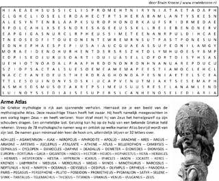 Atlas woordzoeker puzzel