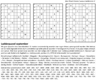 Ladder september puzzel