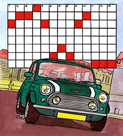 Mini voertuigen puzzel