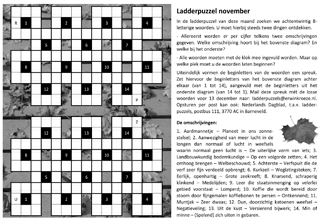 Ladder november puzzel