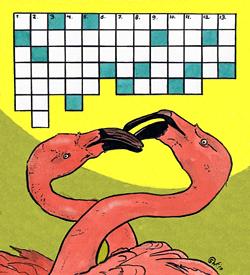 Flamingo puzzel