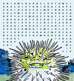 Egelvis woordzoeker puzzel