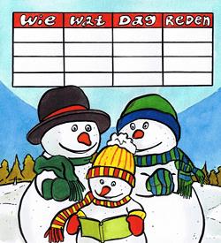 Sneeuwmannen logisch raadsel puzzel