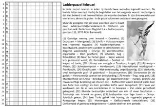 Ladder februari puzzel gezegdes