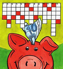 Valuta geld puzzel