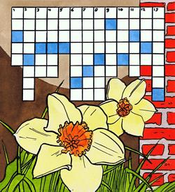 Bloemen krokus puzzel