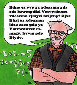 Professor Algebra geheimschrift puzzel