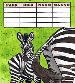 Zebra jonge dieren dierentuin puzzel