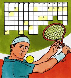 Sporten tennis puzzel