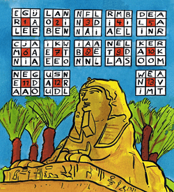Sfinx Egypte puzzel