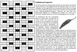 Ladder augustus puzzel