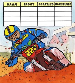 Sporten motorcross logisch raadsel puzzel