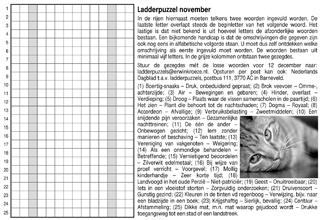 Ladder november overlap puzzel