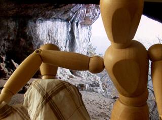 In de grot