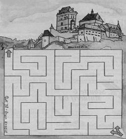 Karlstein kasteel doolhof puzzel