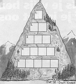 Alpen berg beklimmen woordpuzzel