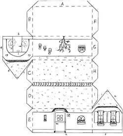 Bouwplaat eigen boerderij knutselen