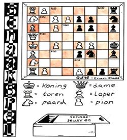 Schaakspel puzzel