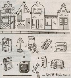 Boodschappen puzzel