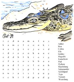 Reptielen puzzel