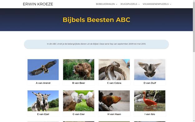 Bijbelverhalen icoon Bijbels Beesten ABC